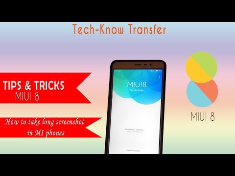 MIUI 8 Tips and Tricks - How to long ScreenShot in MI phones