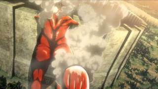 [Shingeki no Kyojin]Colossal titan appears! 100 year walls breached. 720p thumbnail