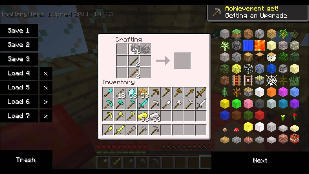 How to make a weapon in minecraft 71