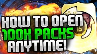 HOW TO OPEN 100K PACKS ANYTIME!!!