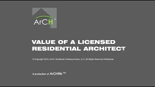Value of a Licensed Residential Architect  9282015