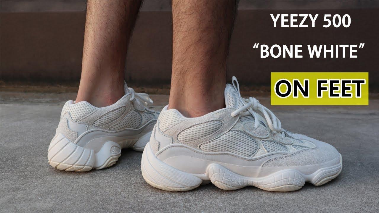 yeezy 500 bone on feet