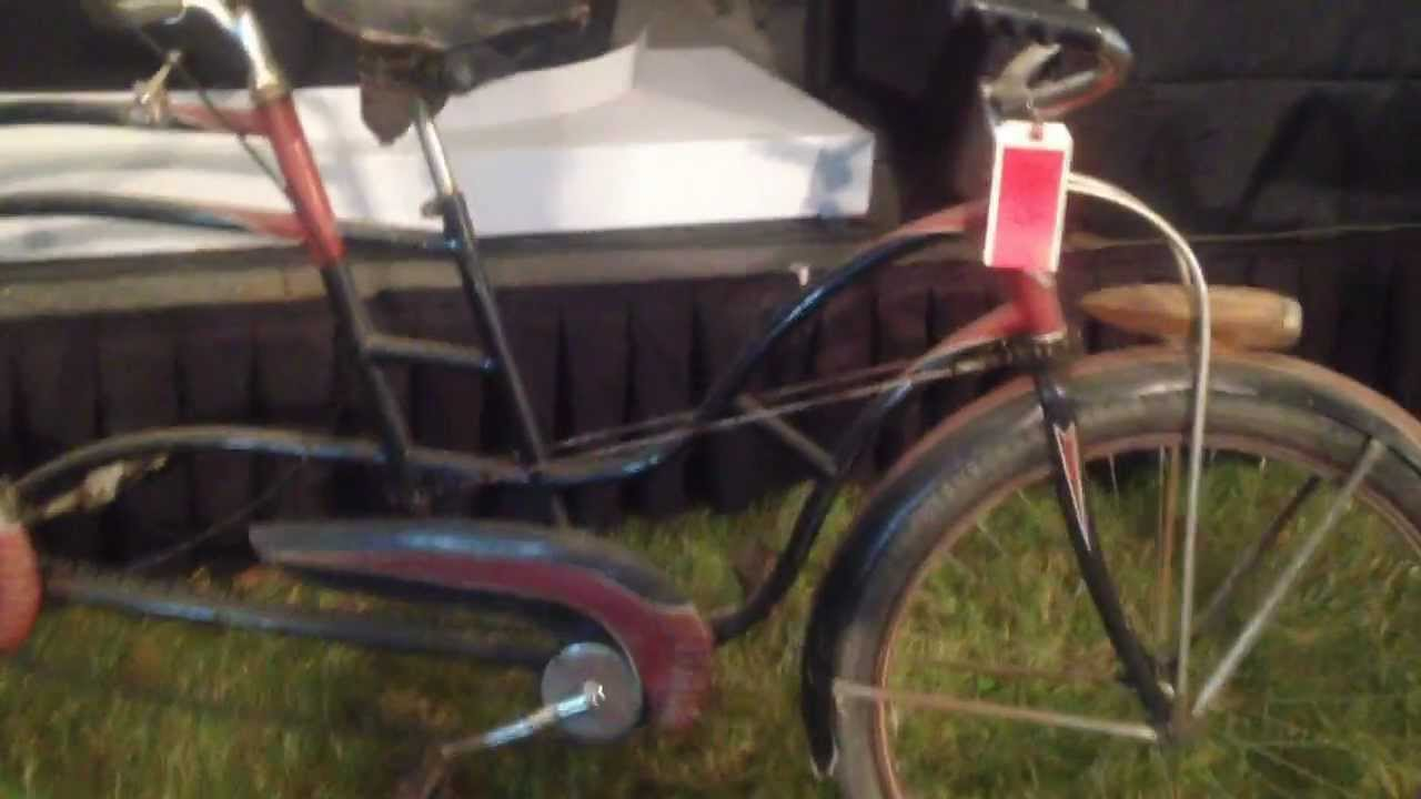 Antique Colson Tandem Two Person Bike Bicycle At Auction