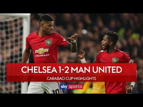 Rashford scores sublime free-kick winner! | Chelsea 1-2 Man Utd | Carabao Cup Highlights