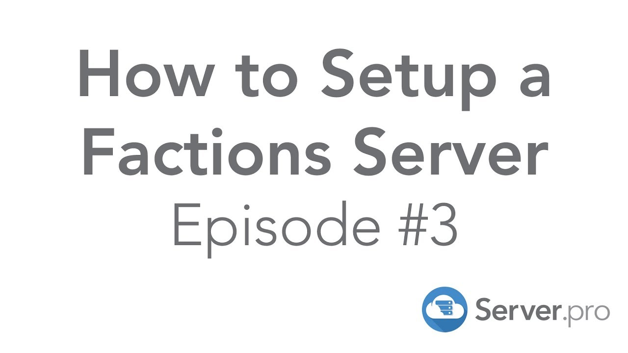 How to Setup a Factions Server   Episode #3 - Minecraft Java