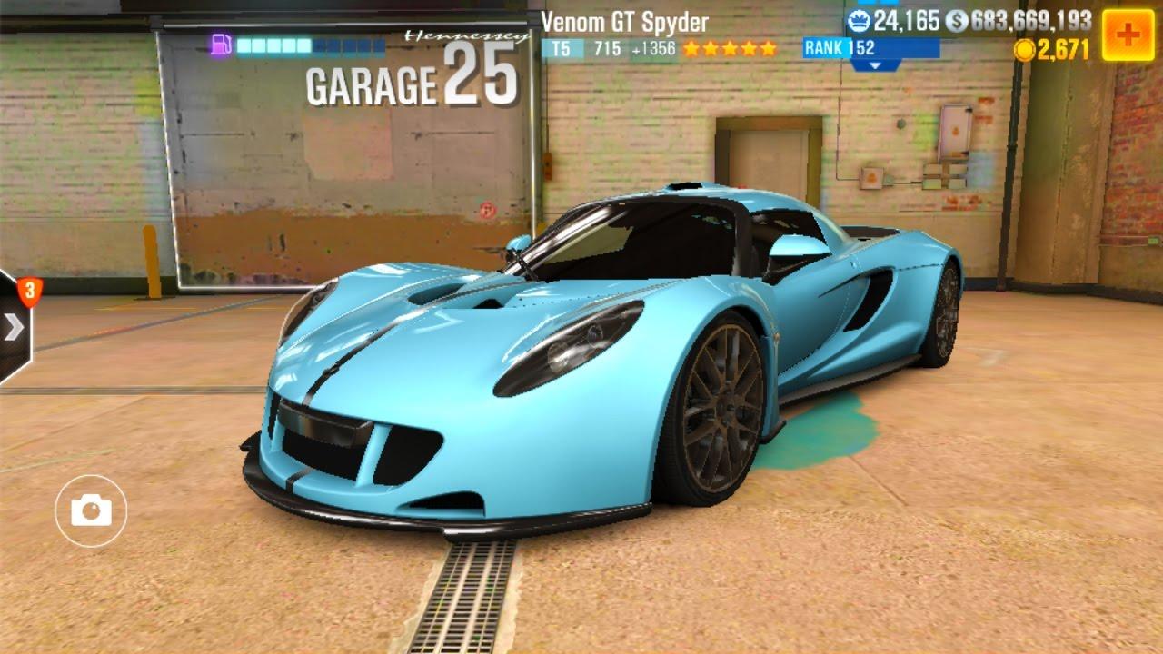 CSR 2 Venom GT Spyder Tune - YouTube