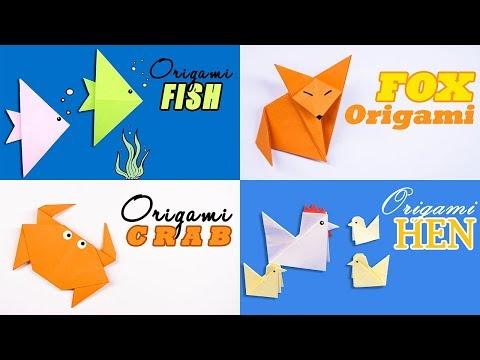 04 Easy Origami Cute Animals - DIY Handmade Craft Ideas