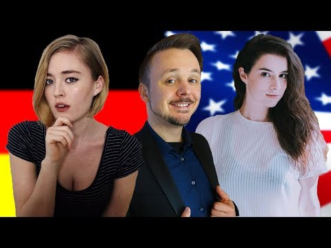 2 American Girls Discuss Germany and USA Stereotypes With A German Guy   Get Germanized   Part 1
