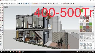 # 3D 2-storey house, 4m x 10m, beautiful small house with beautiful 2 bedrooms cost $25k