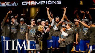 Golden State Warriors Championship Victory Parade In Downtown Oakland, California | TIME thumbnail