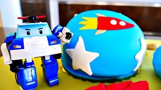 Видео из игрушек Робокар Поли - Торт на День рождения