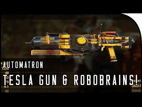 """Fallout 4 Automatron DLC Gameplay Part 3  – """"TESLA GUN, THE ROBOBRAIN!"""""""