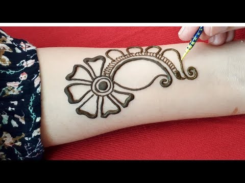 Simple and attractive arabic mehndi designs