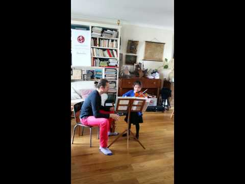 Chloe's Violin Masterclass in paris