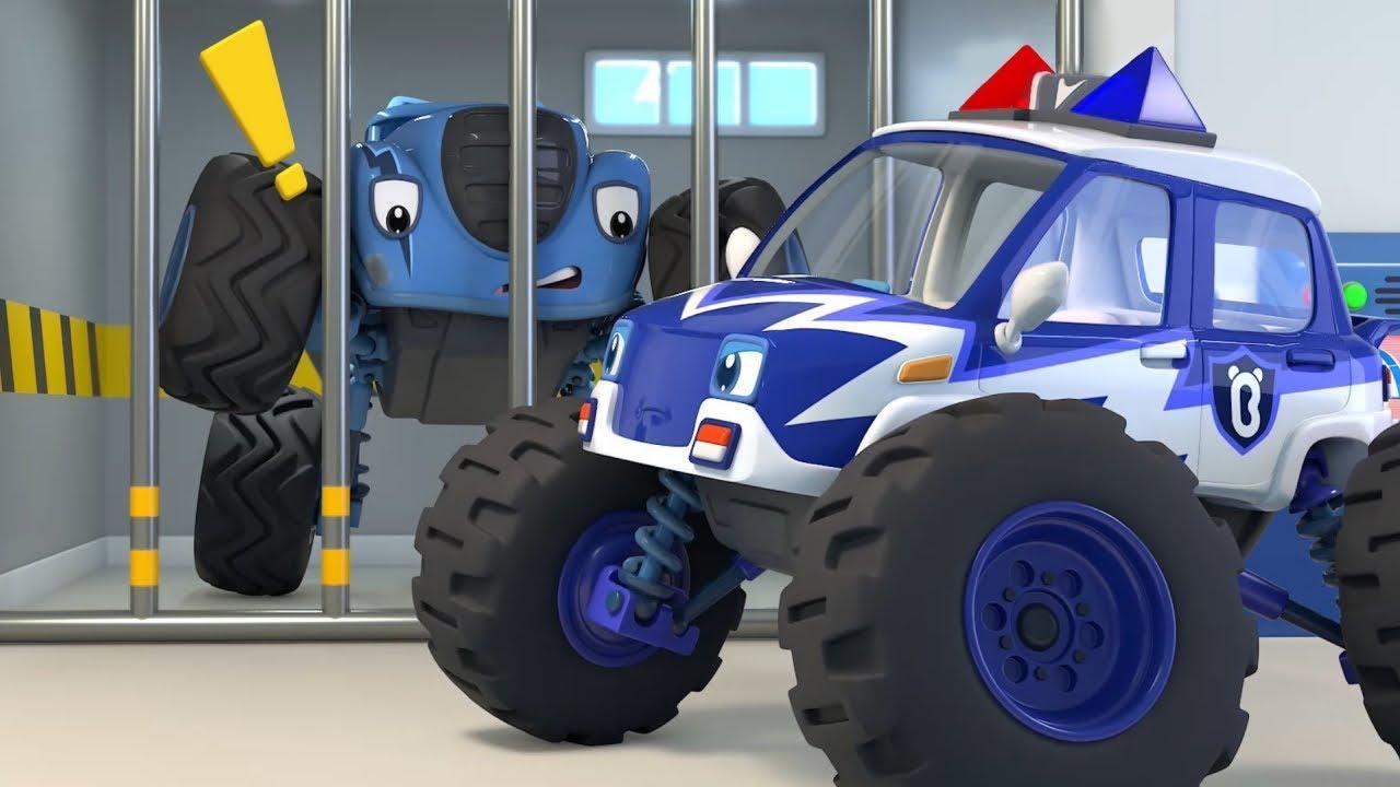 La Patrulla Monstruo Persigue al Problemático Autos | Canción Infantil | BabyBus Español