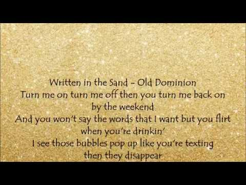 Written in the Sand - Old Dominion Lyrics