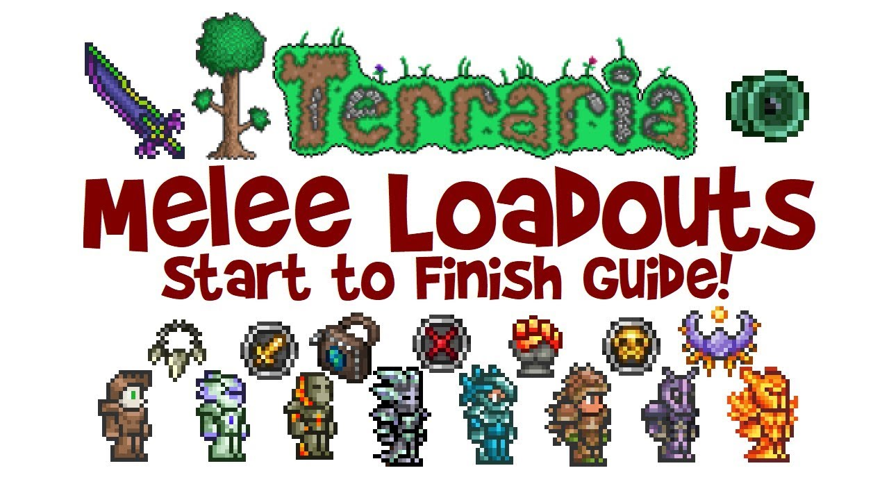 Best Terraria Melee Loadout Guide Class Weapons Armor