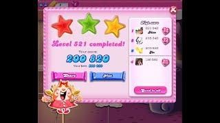 Candy Crush Saga Level 521 ★★★ NO BOOSTER