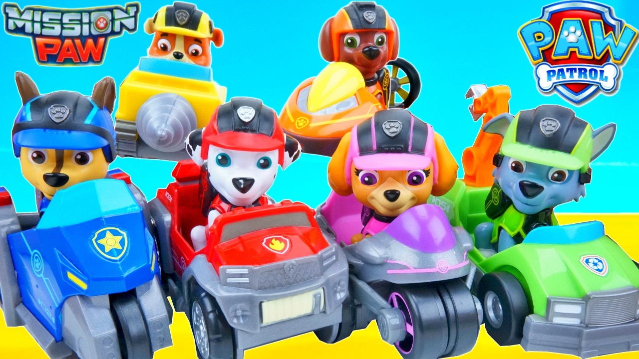 9 PAW PATROL Marshall Rubble Rocky Chase Skye Zuma Pups Kinder Spielzeug Figuren