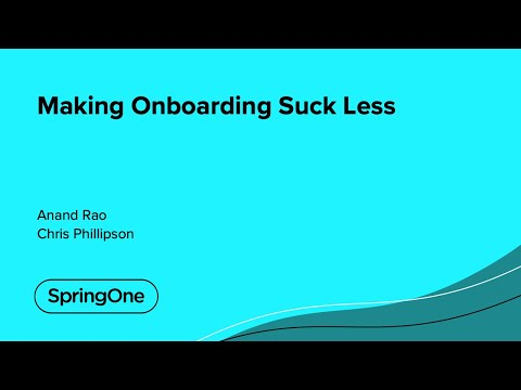 Making Onboarding Suck Less