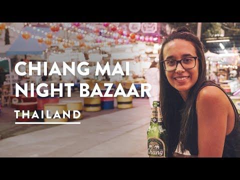 FOOD & SHOPPING – NIGHT BAZAAR CHIANG MAI MARKETS | Travel Vlog 126, 2018