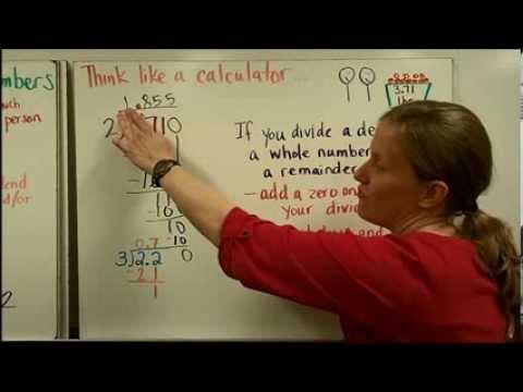 show how to divide decimals