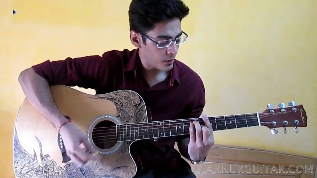 Easy Guitar Lesson For Beginners - Aadat - Jal ... - YouTube