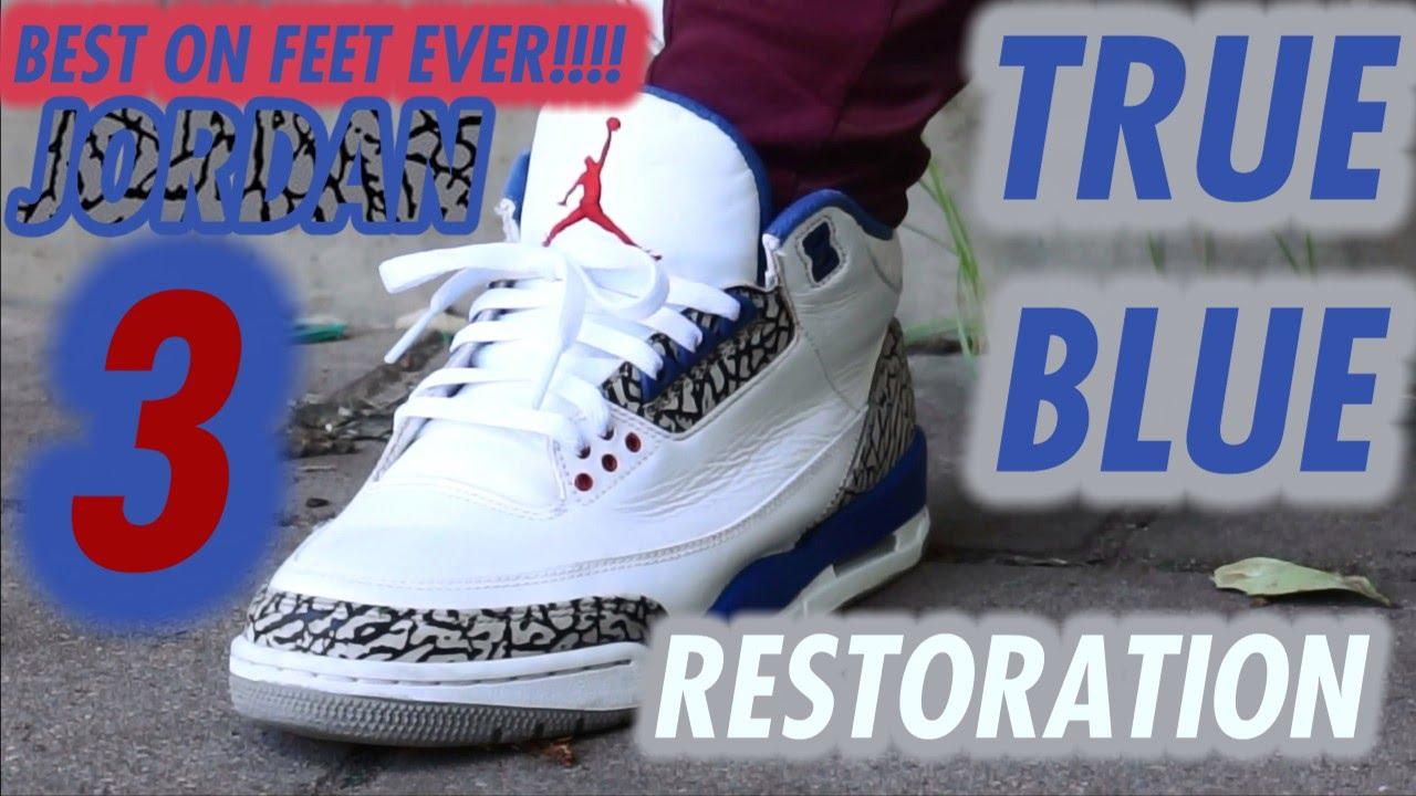 achat en ligne wiki livraison gratuite Air Jordan Retro 3 Vrai Bleu 2011 Sur Les Pieds dHrmb