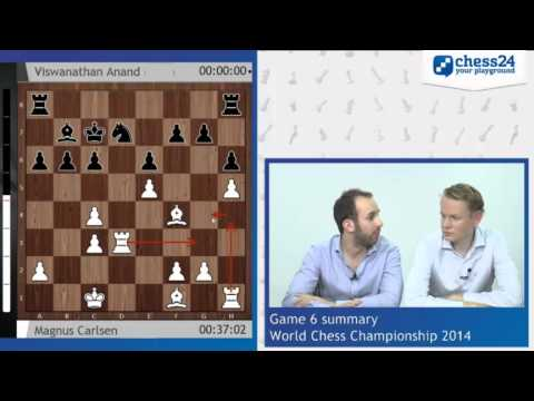Chess World Championship 2014, Game 6 with Lawrence Trent & Jan Gustafsson