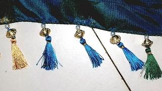 Making Of Saree New  Kuchu Design//3 Colours Kuchu Design //