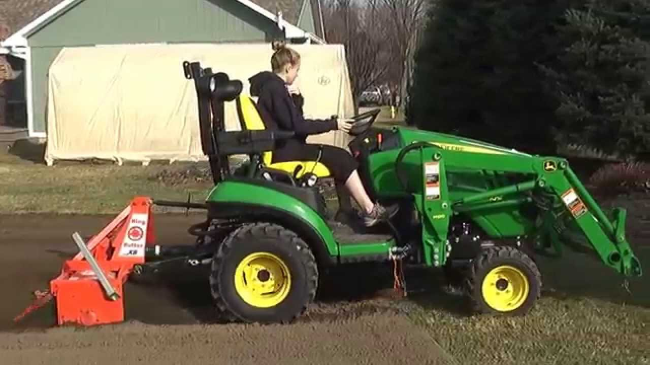 Garden Tilling with John Deere 1025R King Kutter Tiller YouTube