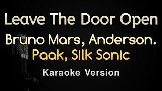 Leave The Door Open - Bruno Mars, Silk Sonic (Karaoke Songs With Lyrics - Original Key)