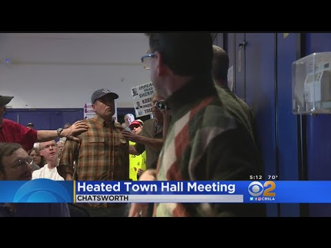 Tempers Flare At Cong. Brad Sherman Town Hall Meeting