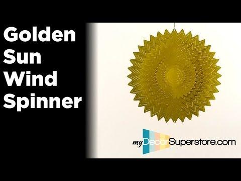 Golden Sun Wind Spinner