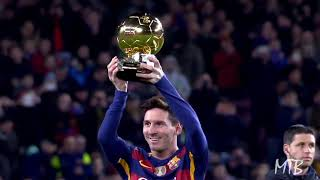 Lionel Messi ● All 6 Iconic Ballon D'or Presentations At The Camp Nou