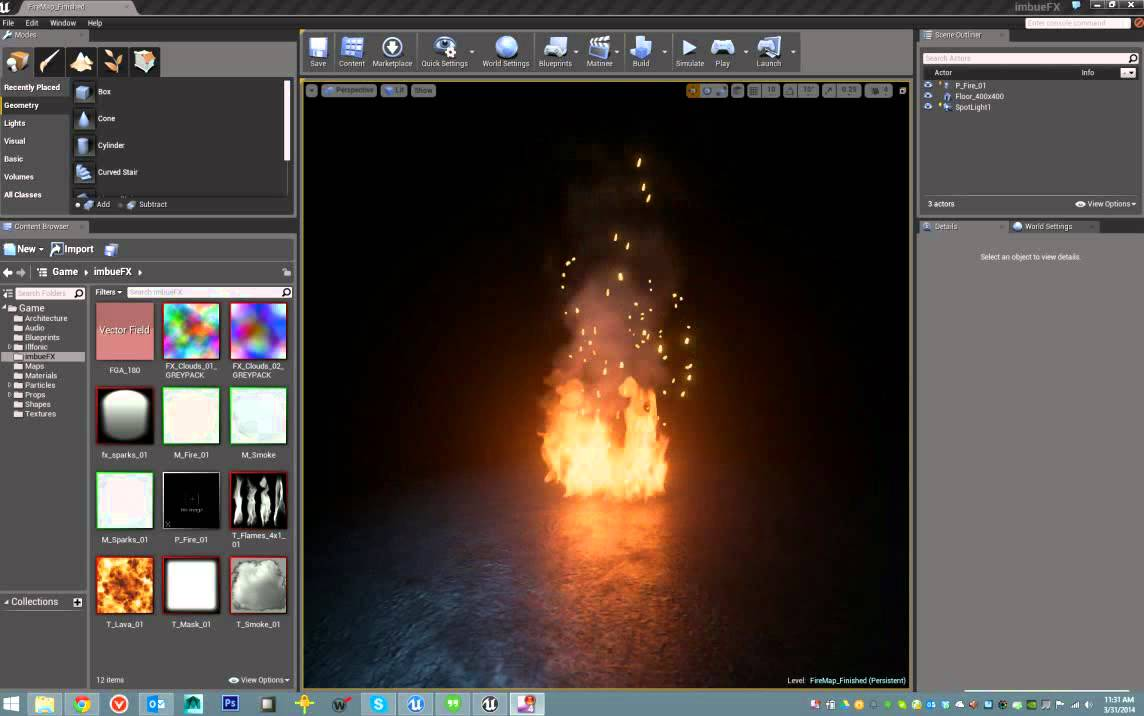 Unreal 4 Fire Vfx Youtube