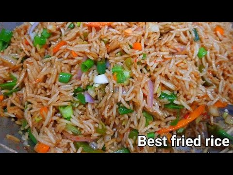 Restaurant style chinese vegetable fried rice how to make veg restaurant style chinese vegetable fried rice how to make veg fried rice recipe fried rice ccuart Images