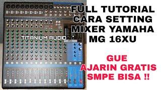 Cara Menggunakan Mixer Yamaha Dan Cara Pasang 4 Speaker Pasif + Subwoofer aktif