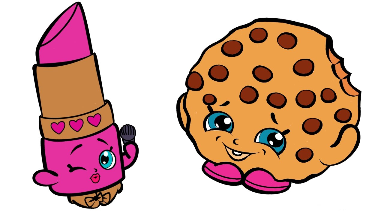 Shopkins Coloring Book Pages With Lippy Lips And Kooky Cookie