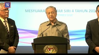 Press conference by Prime Minister, Tun Dr Mahathir Mohamad