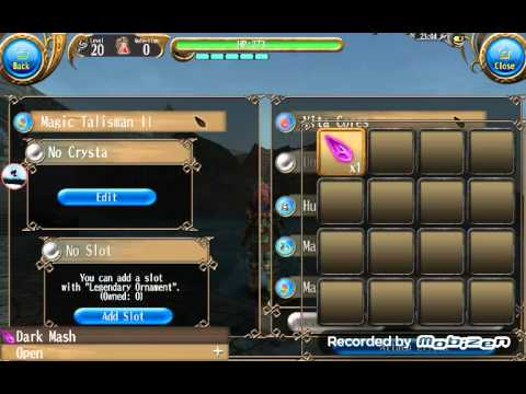 Toram Online: How to attach crystals(xtals) 2equip