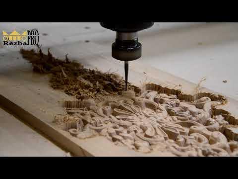 3d фрезеровка, производство деревянной резной накладки на ЧПУ станке