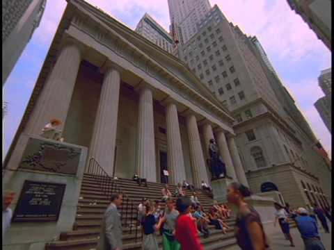 Wall Street - New York City - Financial District - Stock Footage