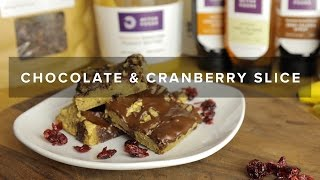 How To Make Chocolate & Cranberry Protein Slices