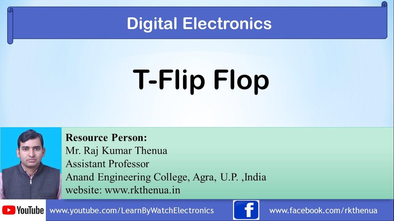 t flip flop digital electronics by raj kumar thenua hindi urdu [ 1280 x 720 Pixel ]