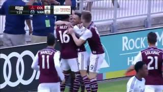 GOAL: Vicente Sanchez opens the scoring early against Vancouver