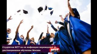Студентов МГУ из-за инфекции переведены на дистанционное обучение
