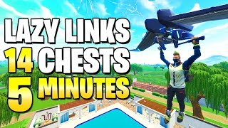 A Complete Guide To Lazy Links - ALL CHEST LOCATIONS & SECRET LOOT - Fortnite Lazy Links Chests