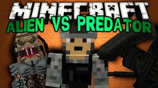 Minecraft Mods - Alien vs Predator (and humans I guess)!!