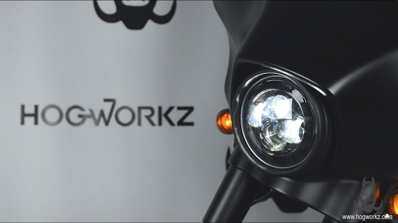 Hogworkz 7 Led Daymaker Style Headlight For Harley Installation 2015 Street Glide Wiring Diagram Guide Youtube